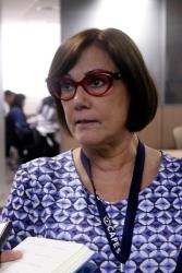 Maria Angela abordou a necessidade de sedimentar critérios da Avaliação (Foto: Haydée Vieira – CCS/CAPES)