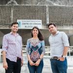 Professores Yuri Gomes Lima, Denise Hissa e Cláudio Lucas Oliveira (Foto: Ribamar Neto/UFC)