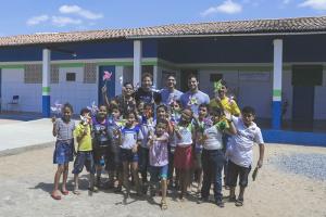 O projeto também desenvolve atividades em escolas públicas de Forquilha (Foto: Divulgação)